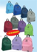 ZAINO SCUOLA BASIC 43X30X15 COL. UNITI ASS. 5495-AS