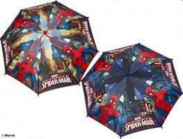 OMBRELLO LUNGO SPIDERMAN MAN. 52CM ANTIVENTO C/AP.SICUR. 75359