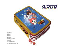 ASTUCCIO 3 ZIP ELIOS & GIOTTO YO-KAI WATCH YW0029