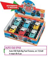 AUTO BIG FOOT OLD STYLE A FRIZIONE EXPO 6PZ 12,5x8,5CM 10007