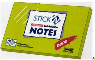 POST-IT NOTES 76X127 NEON VERDE CF12 1010/10VR