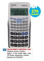 CALCOLATRICE PRECISION SCIENTIFICA 2365 279FUNZ 12CIFRE
