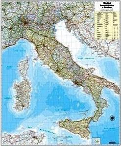 Cartina Stradale Di Italia.Cartina Italia Amministrativa Stradale 1 1000000 97x122 Articoli Didattici
