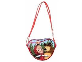 MASHA E ORSO TRACOLLA BOY NATURE CUORE POLI/RASO MULTIC.R92513MC